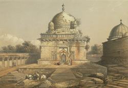 The marble mausoleum of the Sultan, Hoosain Shah Ghuree